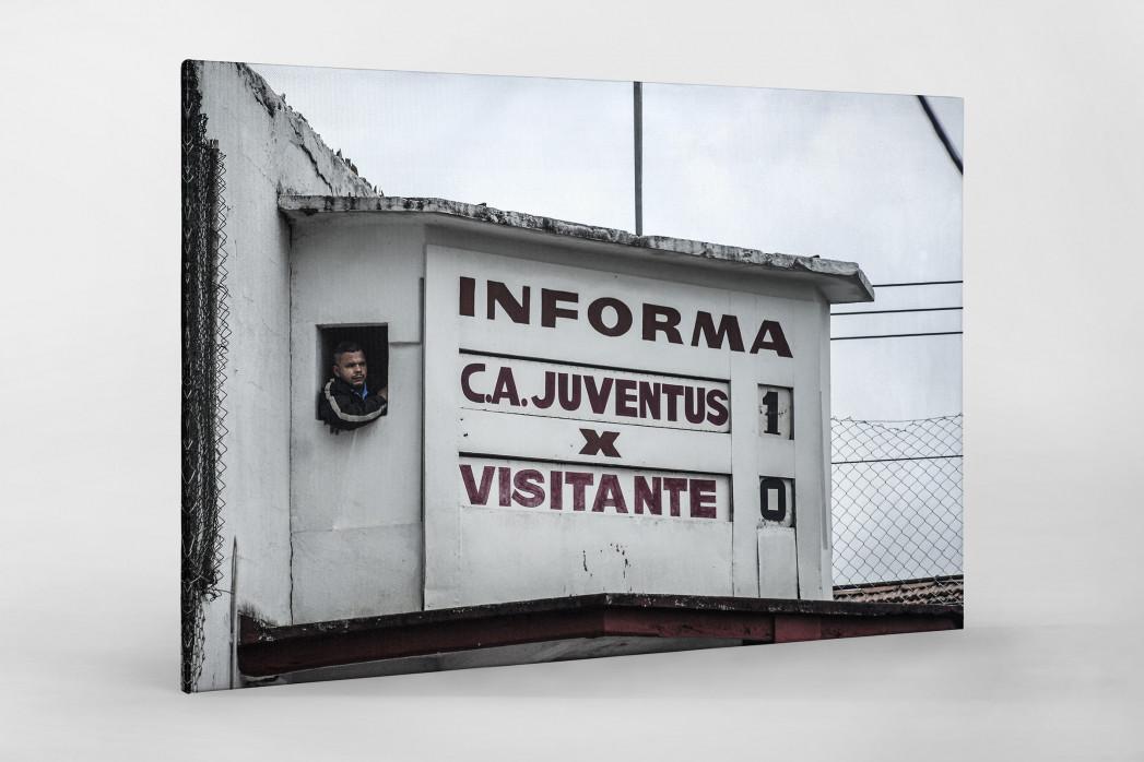 Oldschool Scoreboard als Leinwand auf Keilrahmen gezogen