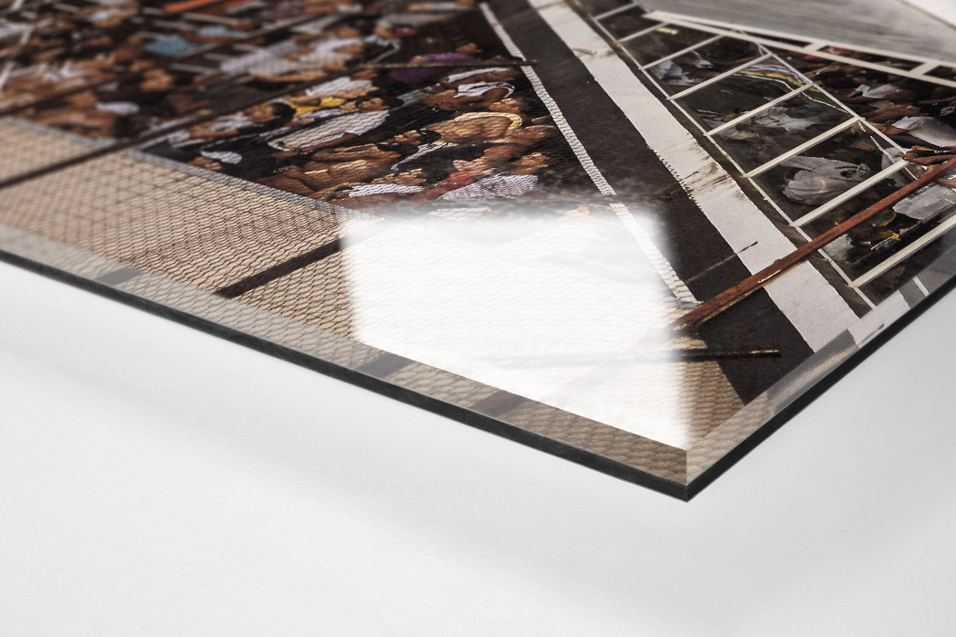 Terraces Full Of Supporters als Direktdruck auf Alu-Dibond hinter Acrylglas (Detail)