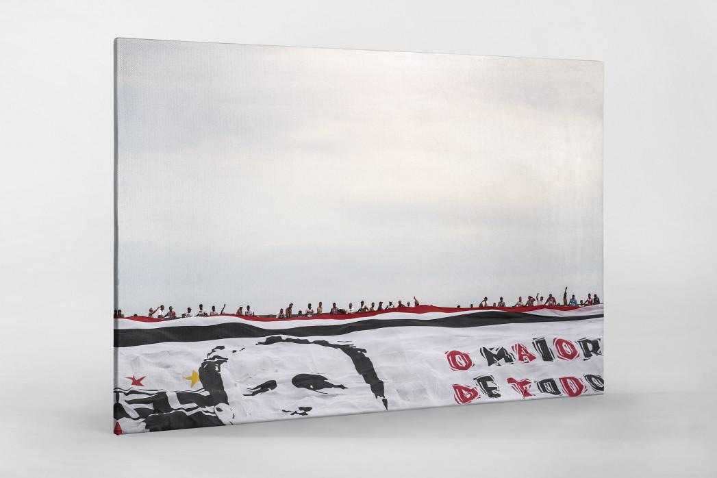Big Flag And Fans als Leinwand auf Keilrahmen gezogen