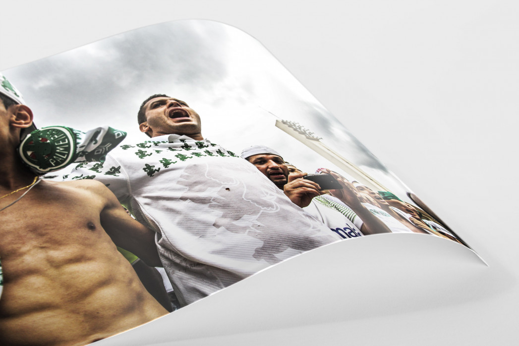 Palmeiras Fans In The Stand als FineArt-Print