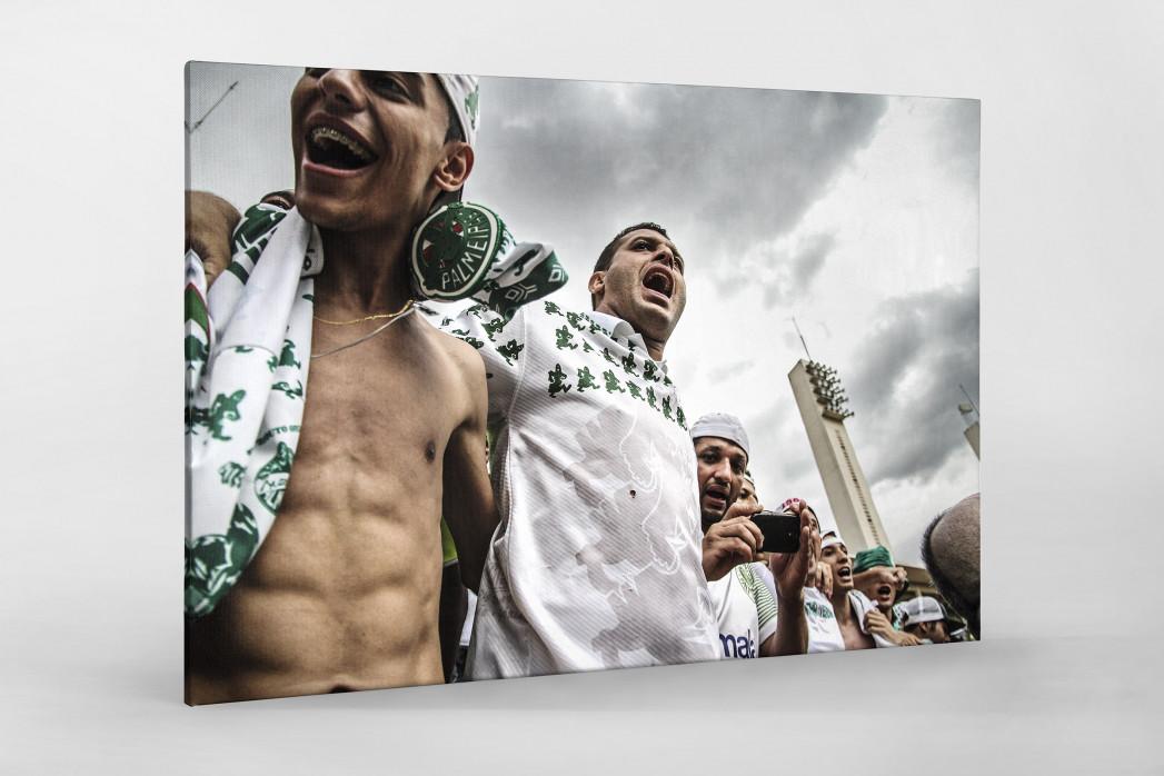 Palmeiras Fans In The Stand als Leinwand auf Keilrahmen gezogen