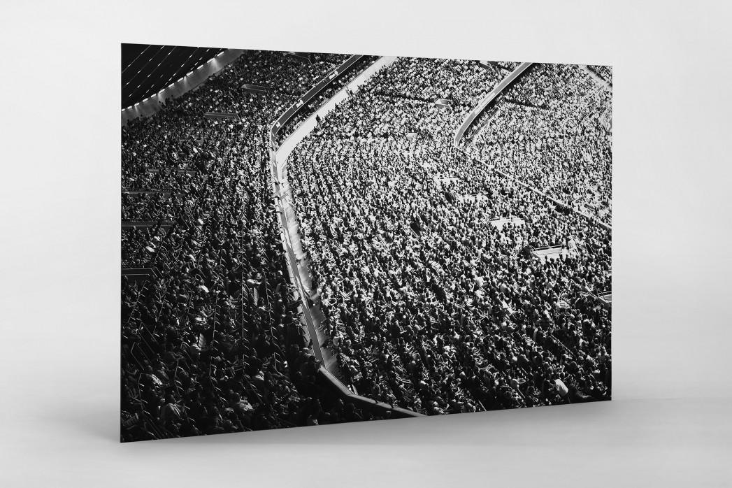 Zuschauer in der Allianz Arena als auf Alu-Dibond kaschierter Fotoabzug