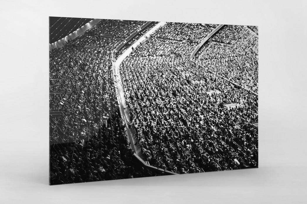 Zuschauer in der Allianz Arena als Direktdruck auf Alu-Dibond hinter Acrylglas