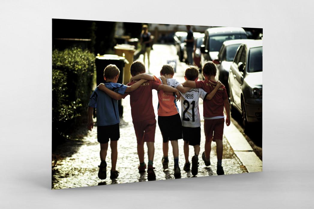 5 Freunde als auf Alu-Dibond kaschierter Fotoabzug