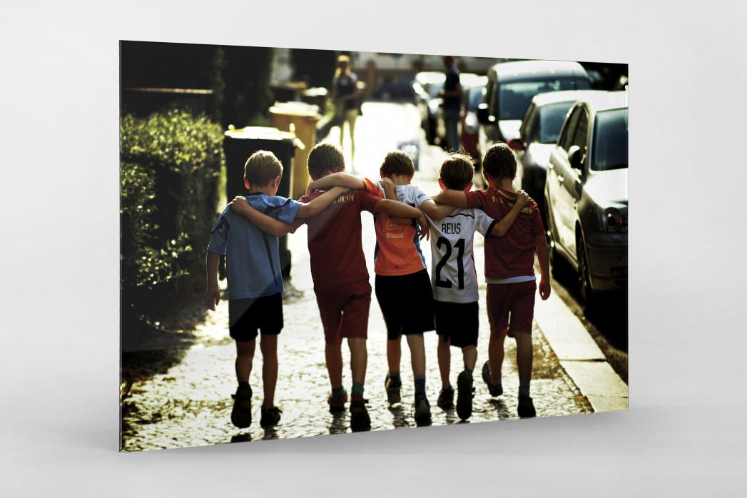 5 Freunde als Direktdruck auf Alu-Dibond hinter Acrylglas