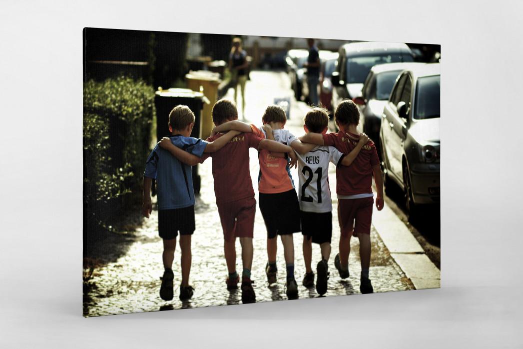 5 Freunde als Leinwand auf Keilrahmen gezogen