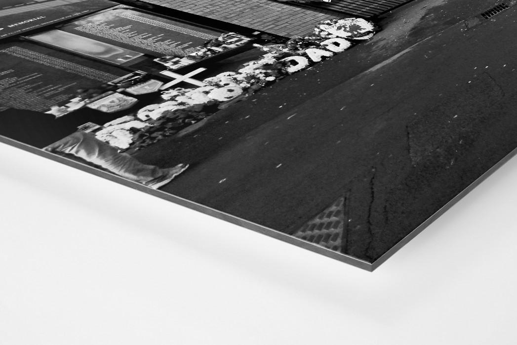 Vor den Toren Anfields als auf Alu-Dibond kaschierter Fotoabzug (Detail)