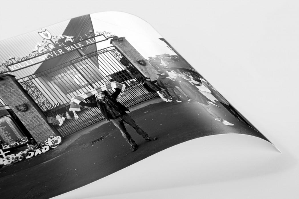 Vor den Toren Anfields als FineArt-Print