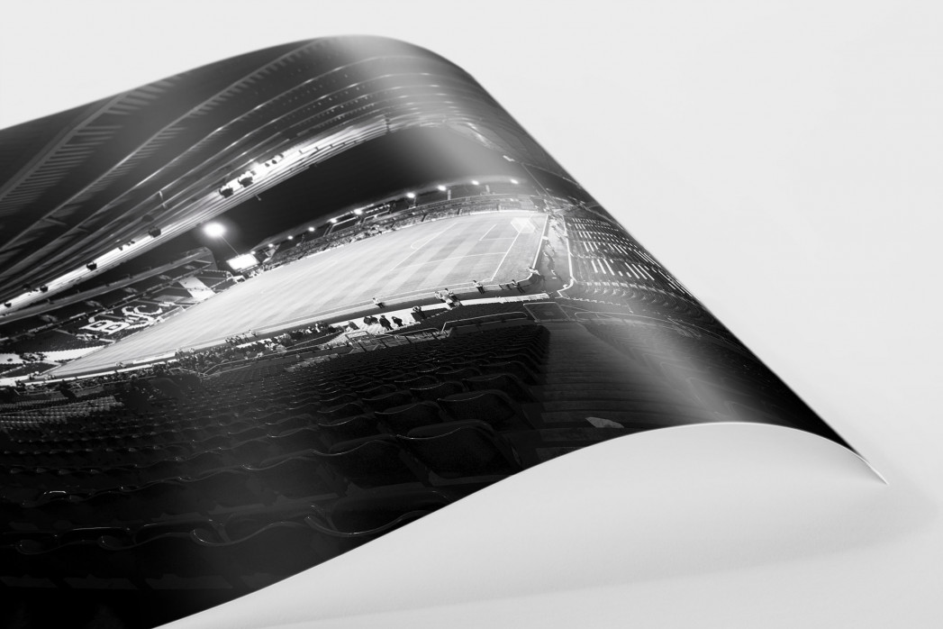 Blick in das St. Andrew's Stadium (s/w) als FineArt-Print