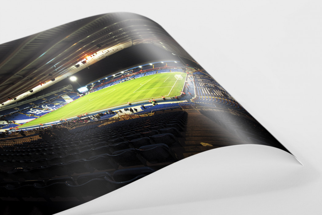 Blick in das St. Andrew's Stadium (Farbe) als FineArt-Print