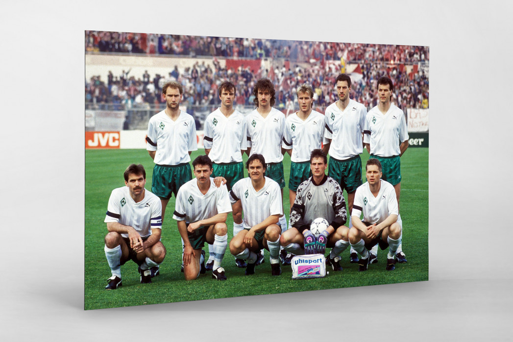 Bremen im Europapokalfinale als auf Alu-Dibond kaschierter Fotoabzug