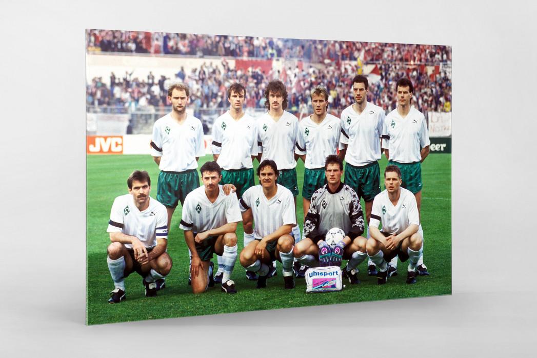 Bremen im Europapokalfinale als Direktdruck auf Alu-Dibond hinter Acrylglas