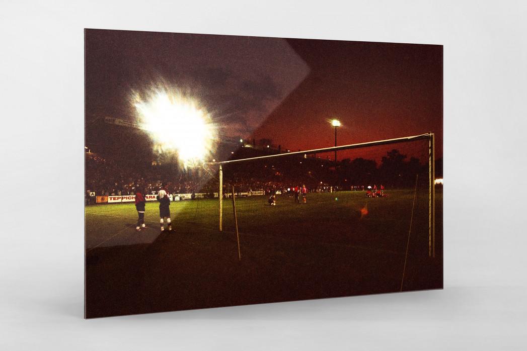 Cottbus Relegation 1997 als Direktdruck auf Alu-Dibond hinter Acrylglas