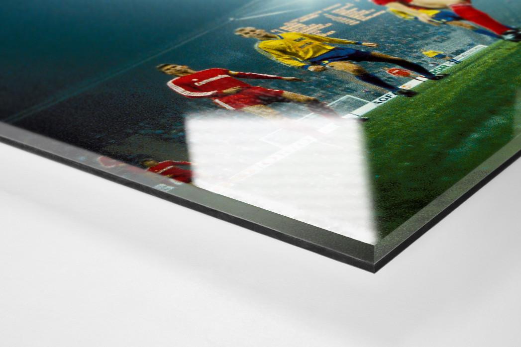 Europapokalabend unter Flutlicht als Direktdruck auf Alu-Dibond hinter Acrylglas (Detail)