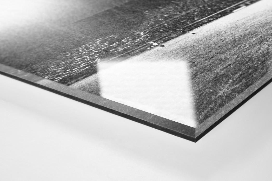Flutlicht und Regen als Direktdruck auf Alu-Dibond hinter Acrylglas (Detail)
