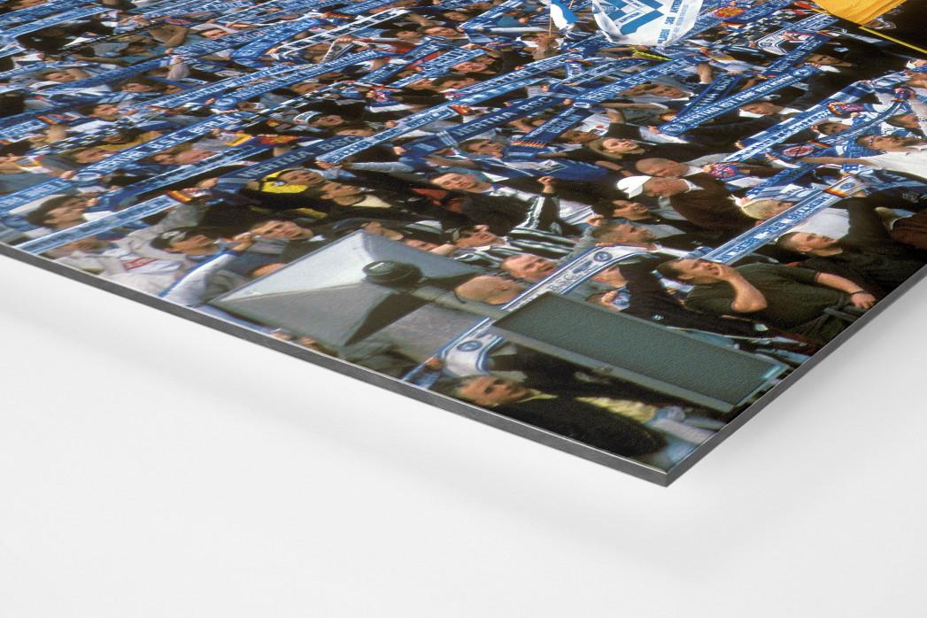 Hertha Fans 1997 als auf Alu-Dibond kaschierter Fotoabzug (Detail)