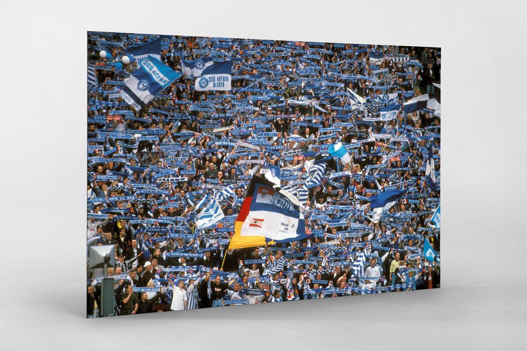 Hertha Fans 1997 als auf Alu-Dibond kaschierter Fotoabzug