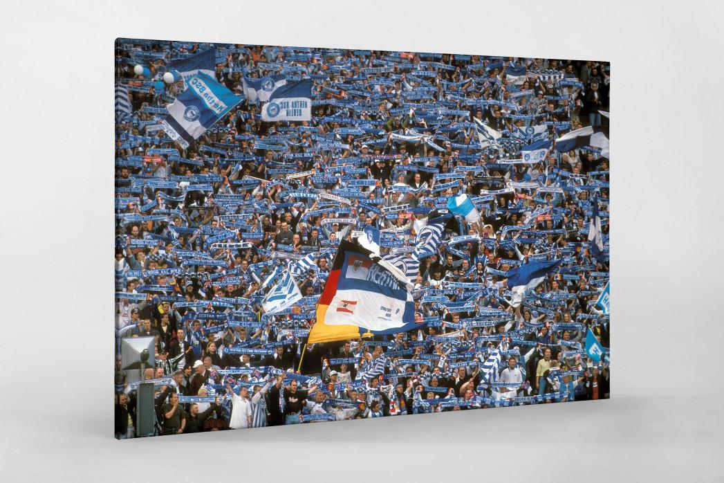 Hertha Fans 1997 als Leinwand auf Keilrahmen gezogen