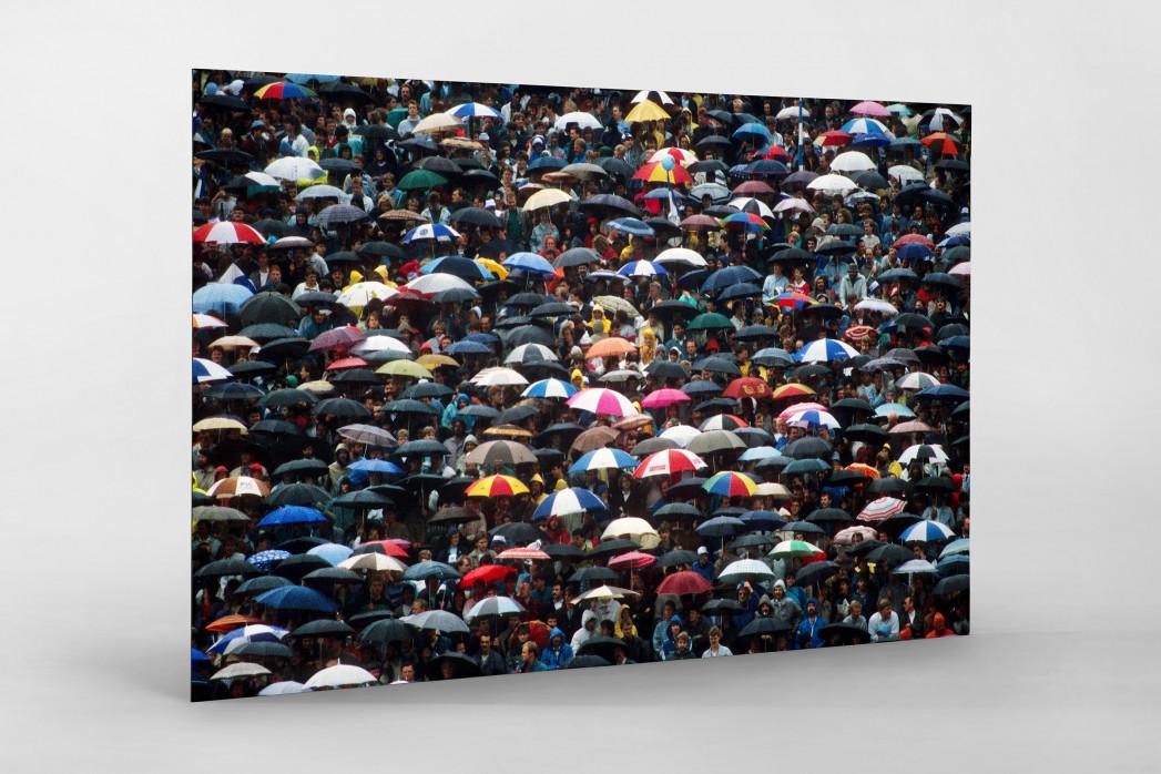 Regenschirme am Böllenfalltor als auf Alu-Dibond kaschierter Fotoabzug