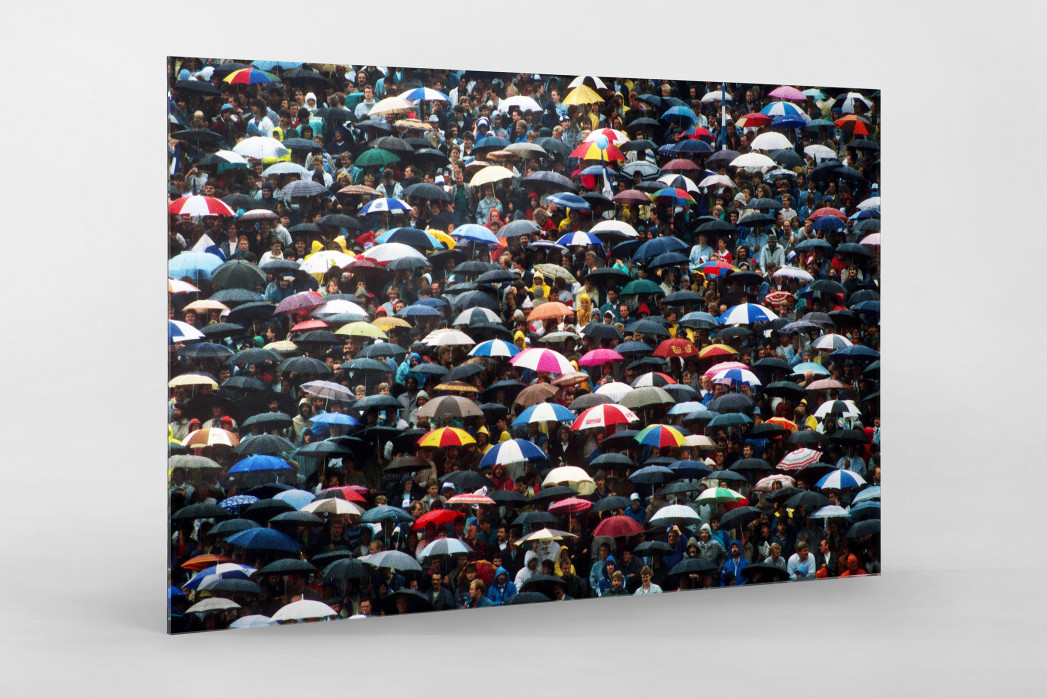 Regenschirme am Böllenfalltor als Direktdruck auf Alu-Dibond hinter Acrylglas