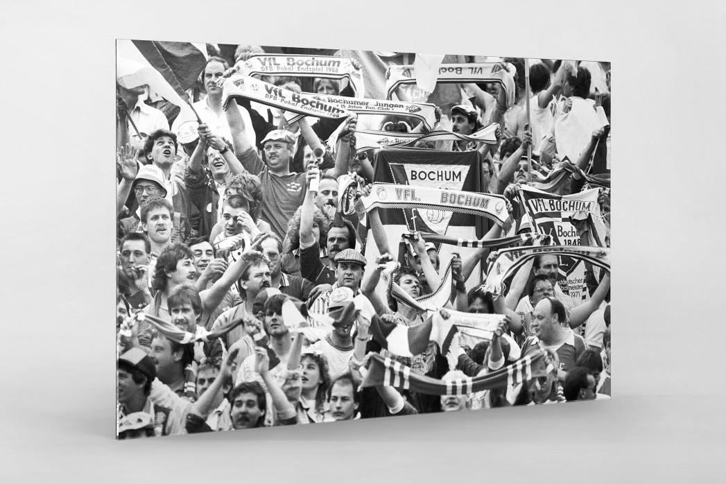 Bochum Fans 1988 als Direktdruck auf Alu-Dibond hinter Acrylglas