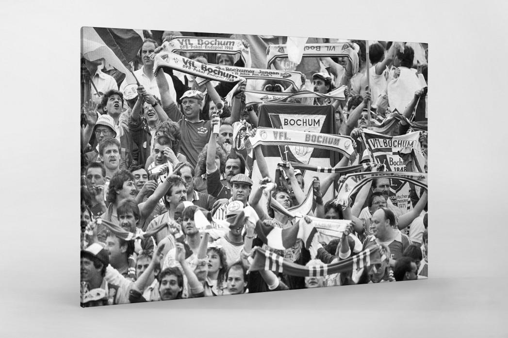 Bochum Fans 1988 als Leinwand auf Keilrahmen gezogen