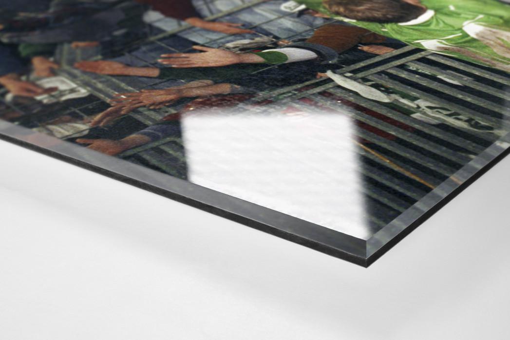Nach der Bremer Europapokalschlacht  als Direktdruck auf Alu-Dibond hinter Acrylglas (Detail)