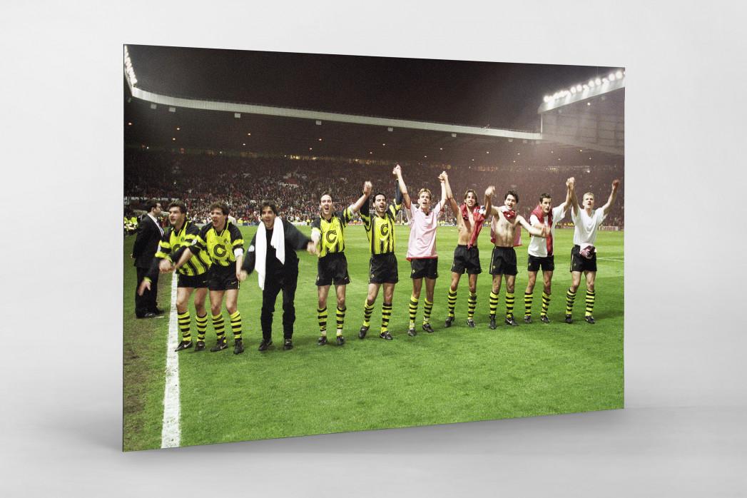 BVB im Old Trafford als auf Alu-Dibond kaschierter Fotoabzug