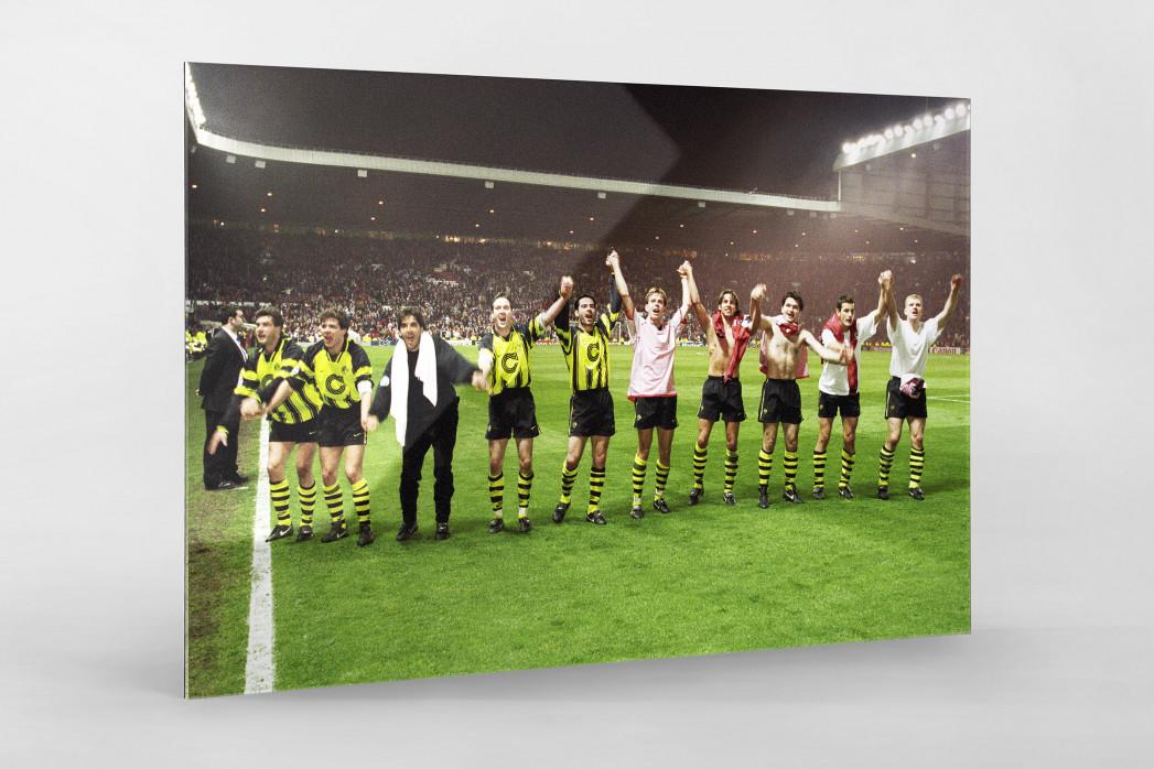 BVB im Old Trafford als Direktdruck auf Alu-Dibond hinter Acrylglas
