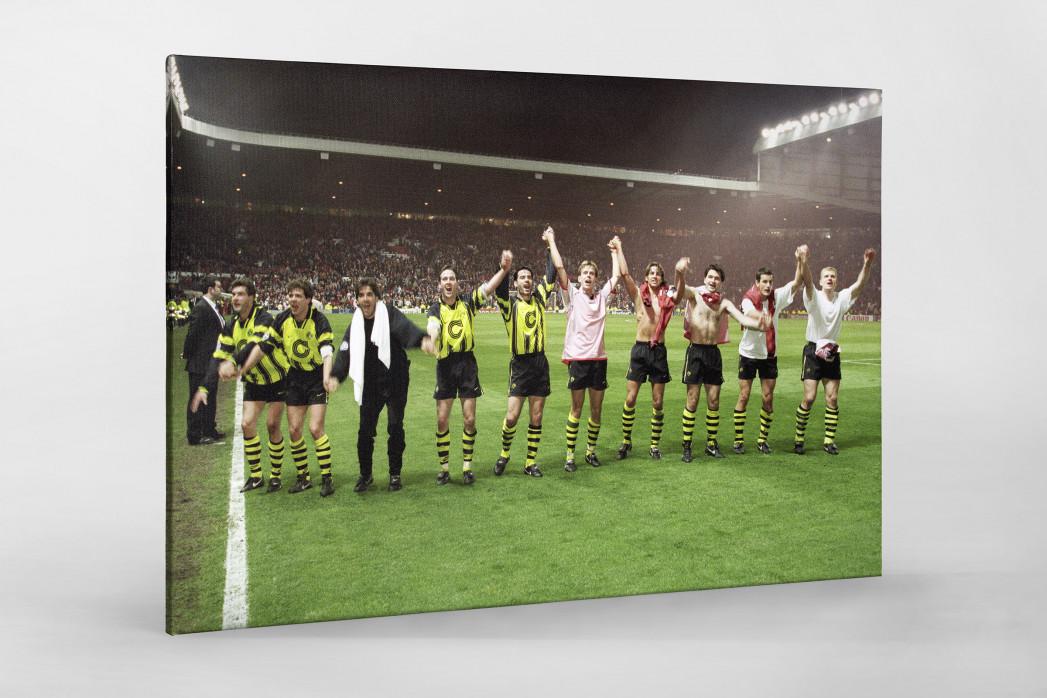 BVB im Old Trafford als Leinwand auf Keilrahmen gezogen