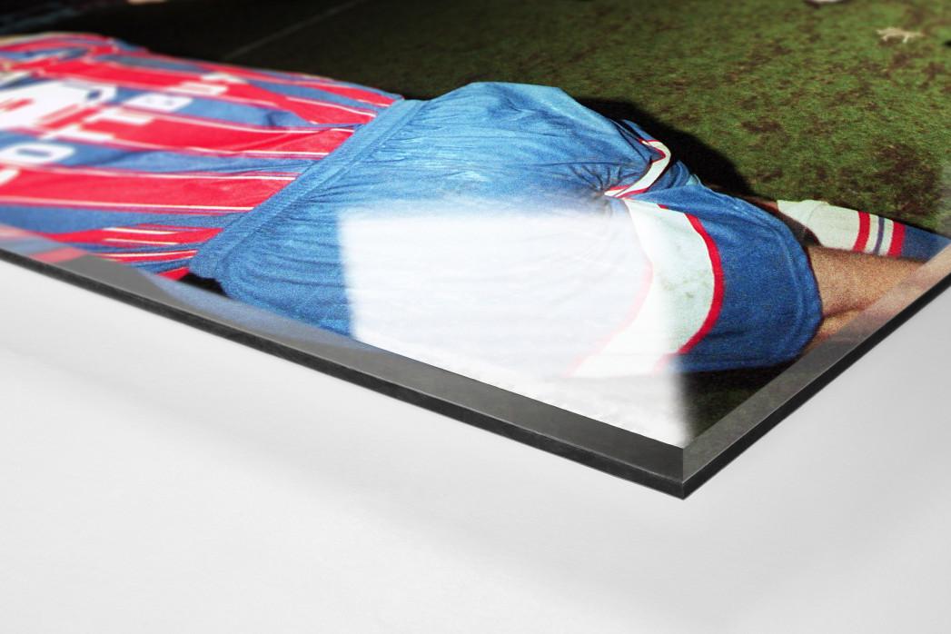 Cottbus jubelt im Pokal (1) als Direktdruck auf Alu-Dibond hinter Acrylglas (Detail)