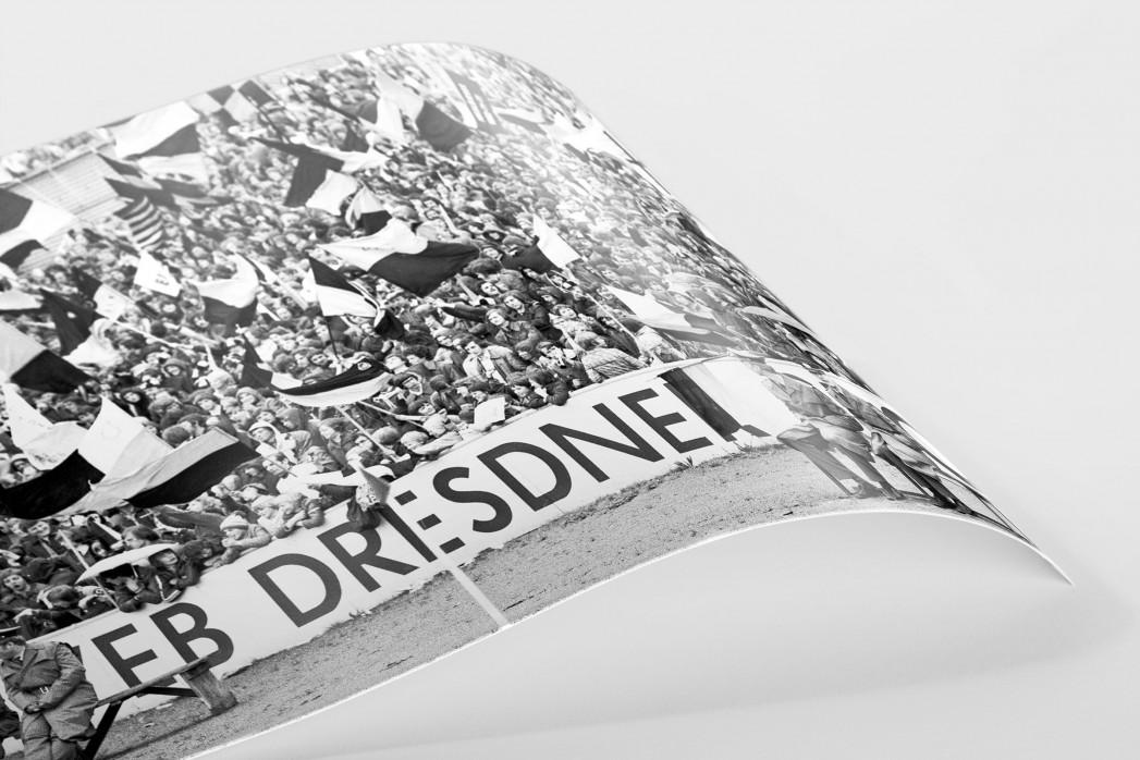 Fans und Volkspolizei als FineArt-Print