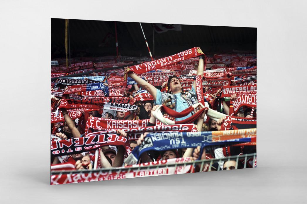 Kaiserslautern Fans 1998 als auf Alu-Dibond kaschierter Fotoabzug