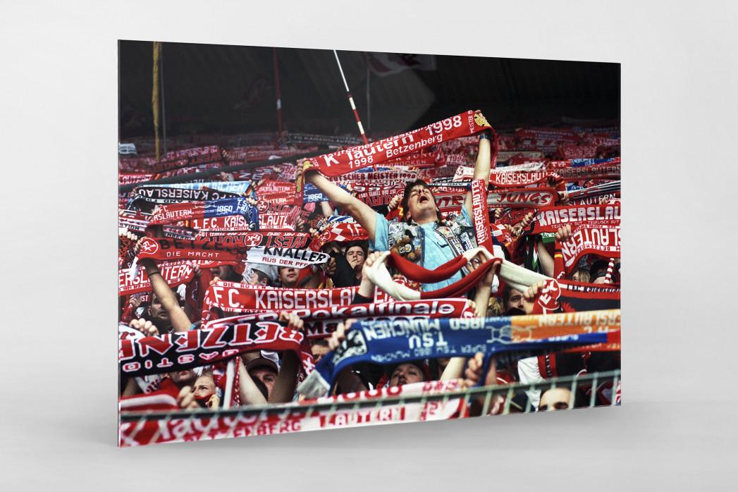 Kaiserslautern Fans 1998 als Direktdruck auf Alu-Dibond hinter Acrylglas