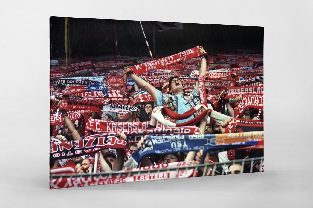 Kaiserslautern Fans 1998 als Leinwand auf Keilrahmen gezogen