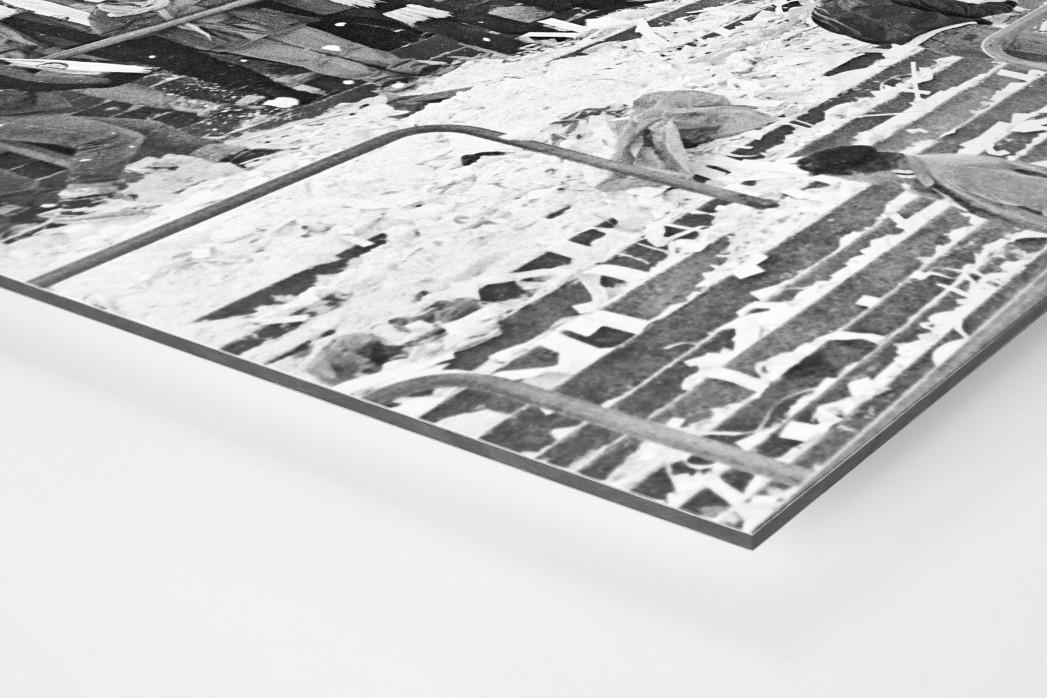 Frankfurter Schneeballschlacht als auf Alu-Dibond kaschierter Fotoabzug (Detail)