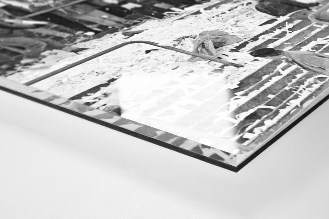 Frankfurter Schneeballschlacht als Direktdruck auf Alu-Dibond hinter Acrylglas (Detail)