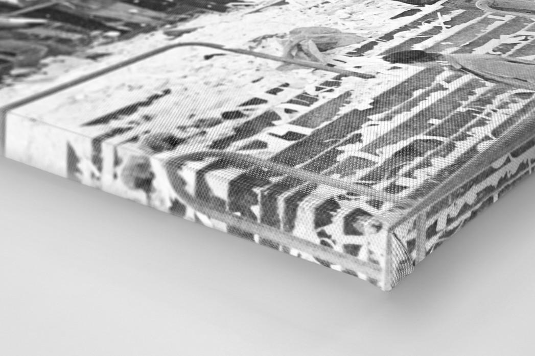 Frankfurter Schneeballschlacht als Leinwand auf Keilrahmen gezogen (Detail)
