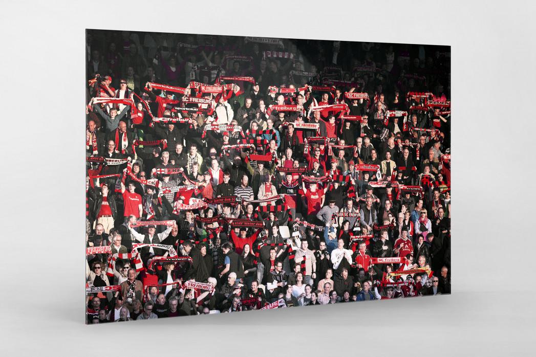 Freiburg Fans als Direktdruck auf Alu-Dibond hinter Acrylglas