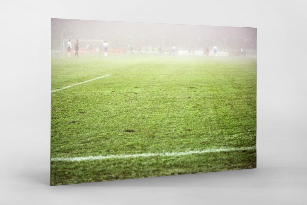 Nebel gegen Barcelona als auf Alu-Dibond kaschierter Fotoabzug
