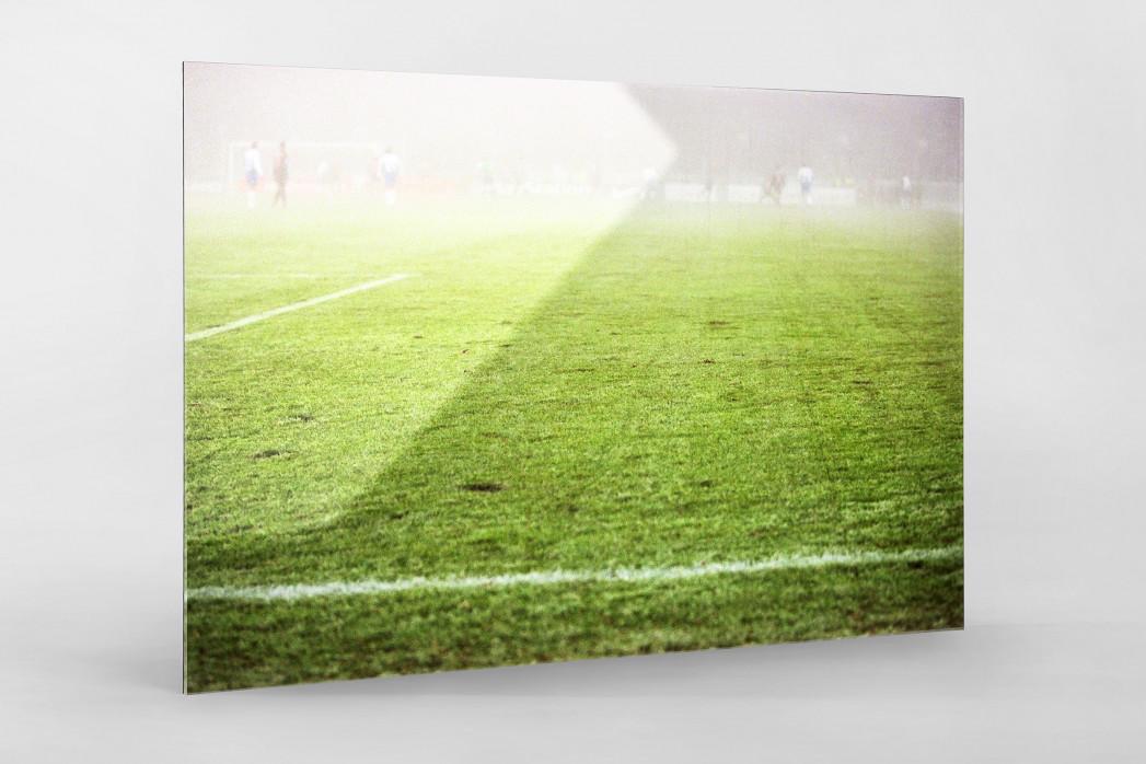 Nebel gegen Barcelona als Direktdruck auf Alu-Dibond hinter Acrylglas