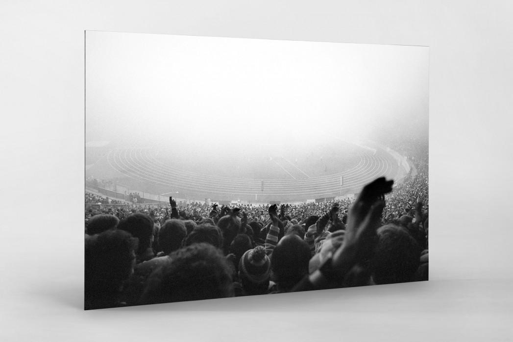 Nebel im Olympiastadion als auf Alu-Dibond kaschierter Fotoabzug