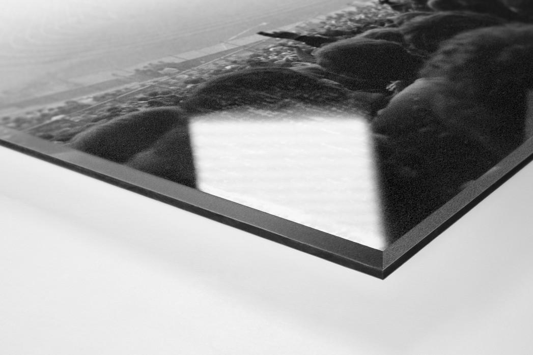 Nebel im Olympiastadion als Direktdruck auf Alu-Dibond hinter Acrylglas (Detail)