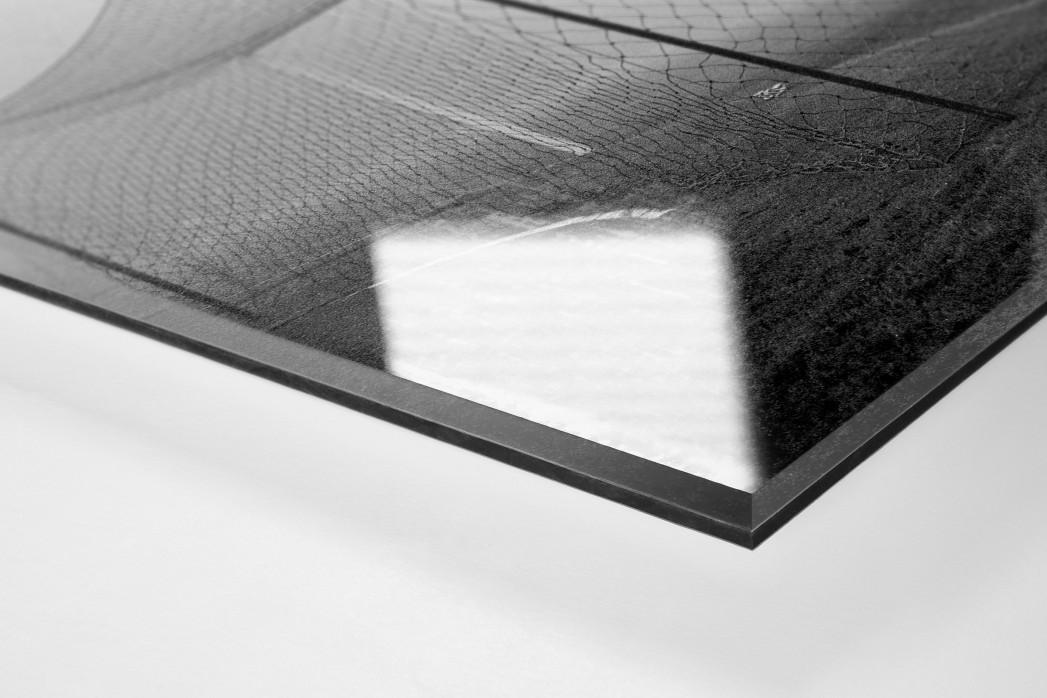 Pfaff im Nebel als Direktdruck auf Alu-Dibond hinter Acrylglas (Detail)