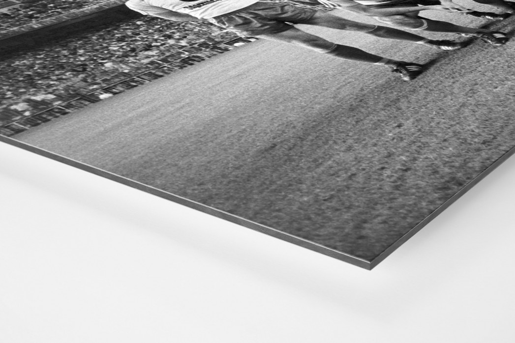 Braunschweig im Bernabéu als auf Alu-Dibond kaschierter Fotoabzug (Detail)