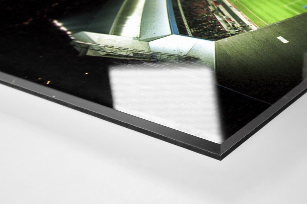 Betzenberg von oben als Direktdruck auf Alu-Dibond hinter Acrylglas (Detail)