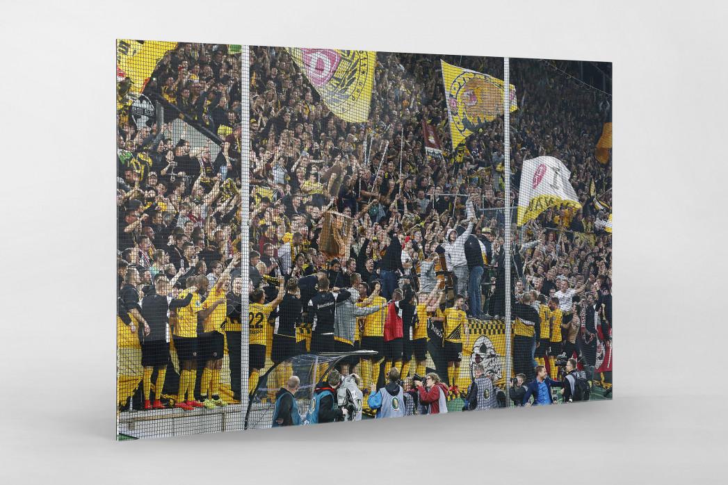 Dresden jubelt im Pokal als Direktdruck auf Alu-Dibond hinter Acrylglas