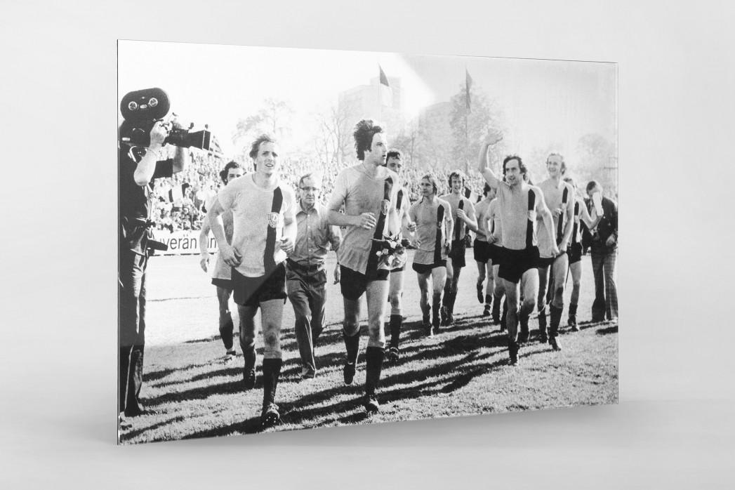 Dresdens Meister 1976 als Direktdruck auf Alu-Dibond hinter Acrylglas