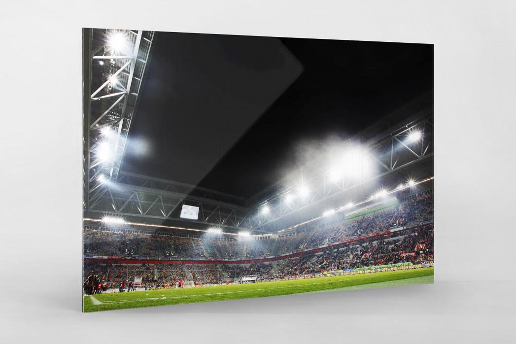 Flutlicht in Düsseldorf als Direktdruck auf Alu-Dibond hinter Acrylglas