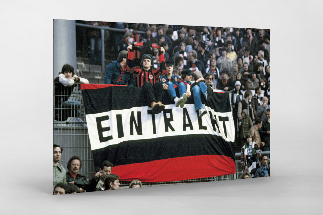Frankfurt Fans 1980 als auf Alu-Dibond kaschierter Fotoabzug